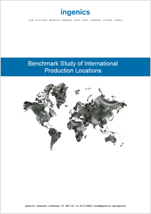 Cover Benchmark Study of International Production Locations 2015