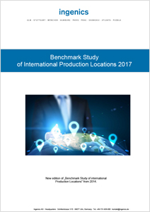Cover Benchmark Study of International Production Locations 2017