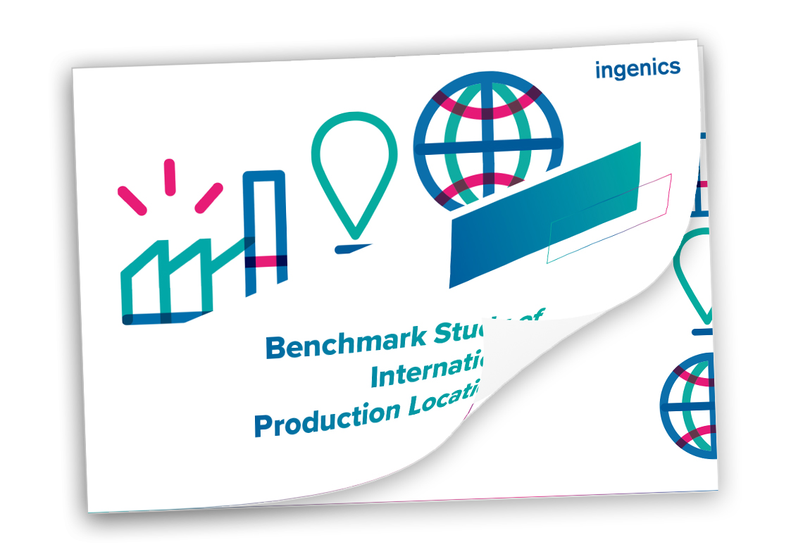 Cover Benchmark Study of International Production Locations 2019