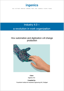 Cover Study Industry 4.0 - a revolution in work organization
