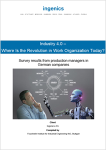 Cover Study Industry 4.0 - Where is the Revolution in Work Organization Today?